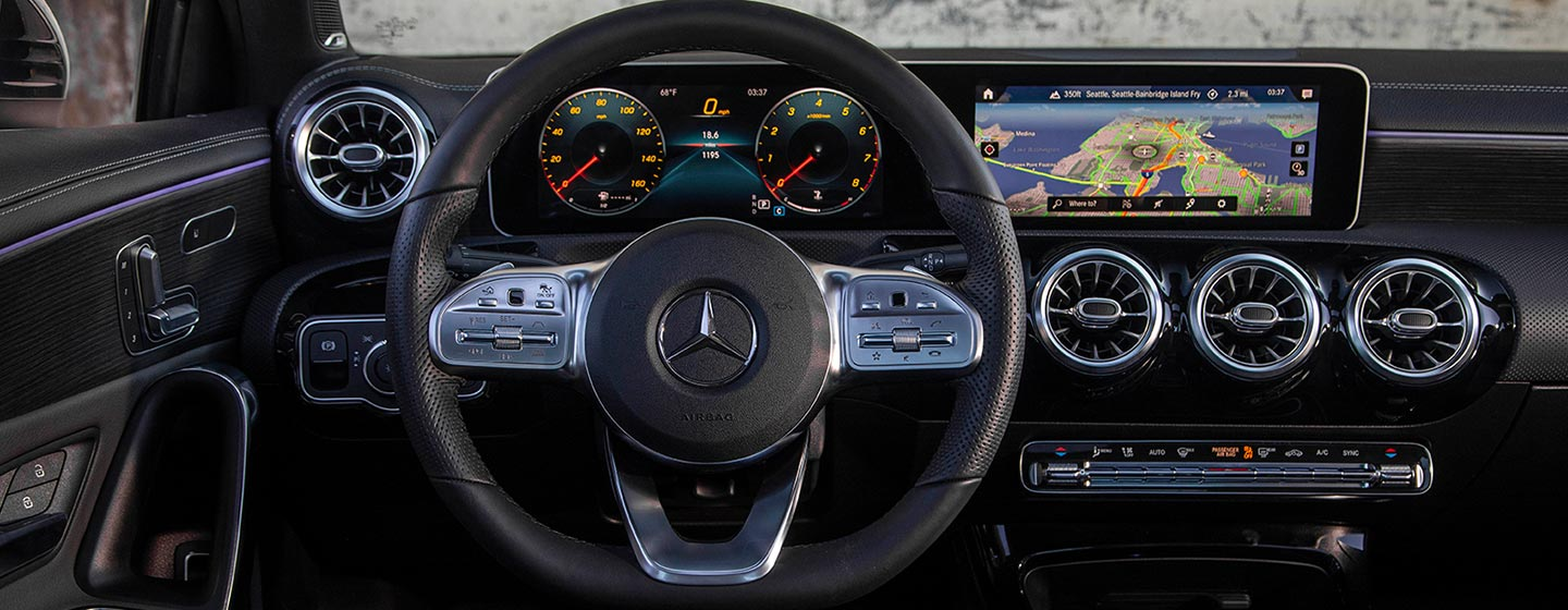 Safety features and interior of the 2019 Mercedes-Benz A-Class - available at our Mercedes-Benz dealership in Augusta, GA