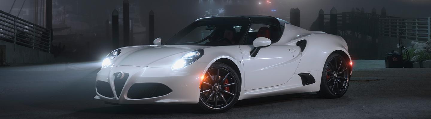 2019 Alfa Romeo 4C Spider parked in empty lot