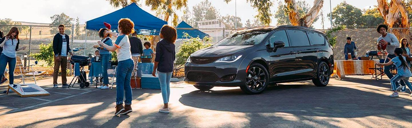 Chrysler Pacifica at a cookout event