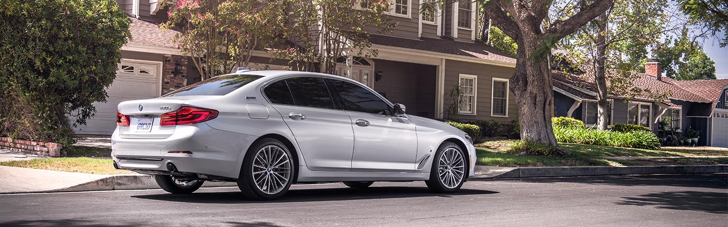 Exterior of the 2019 BMW 5 Series at Santa Monica BMW