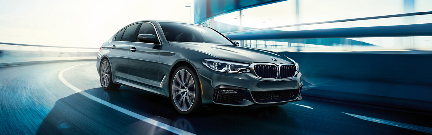 Exterior of the 2019 BMW 5 Series at our BMW dealer in Santa Monica, CA