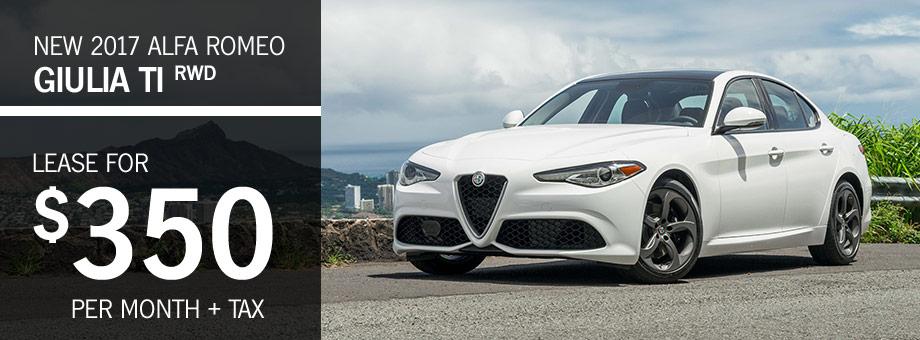 Alfa Romeo Hawaii New Alfa Romeo Dealership In Honolulu HI - Lease alfa romeo