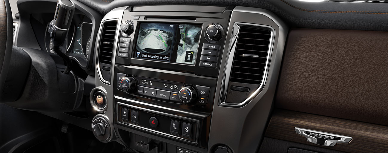 Safety features and interior of the 2019 Nissan Titan - available at our Nissan dealership in Flagstaff, AZ.