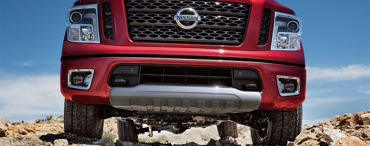 Nissan Titan S front grill.