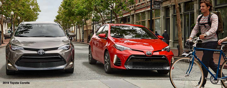 Toyota Corolla on road