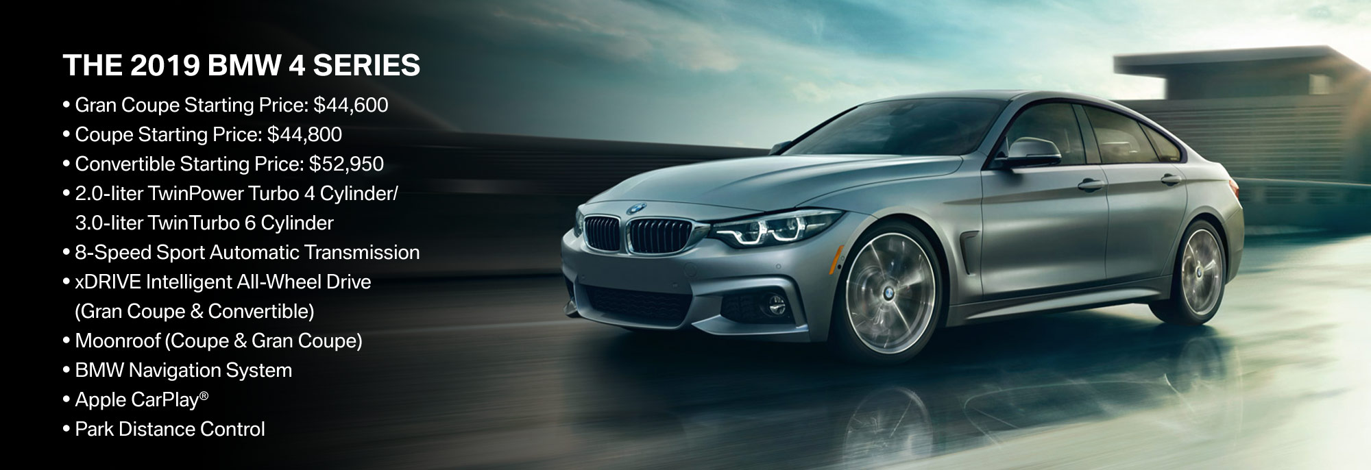 New 2019 BMW 4 Series Offer