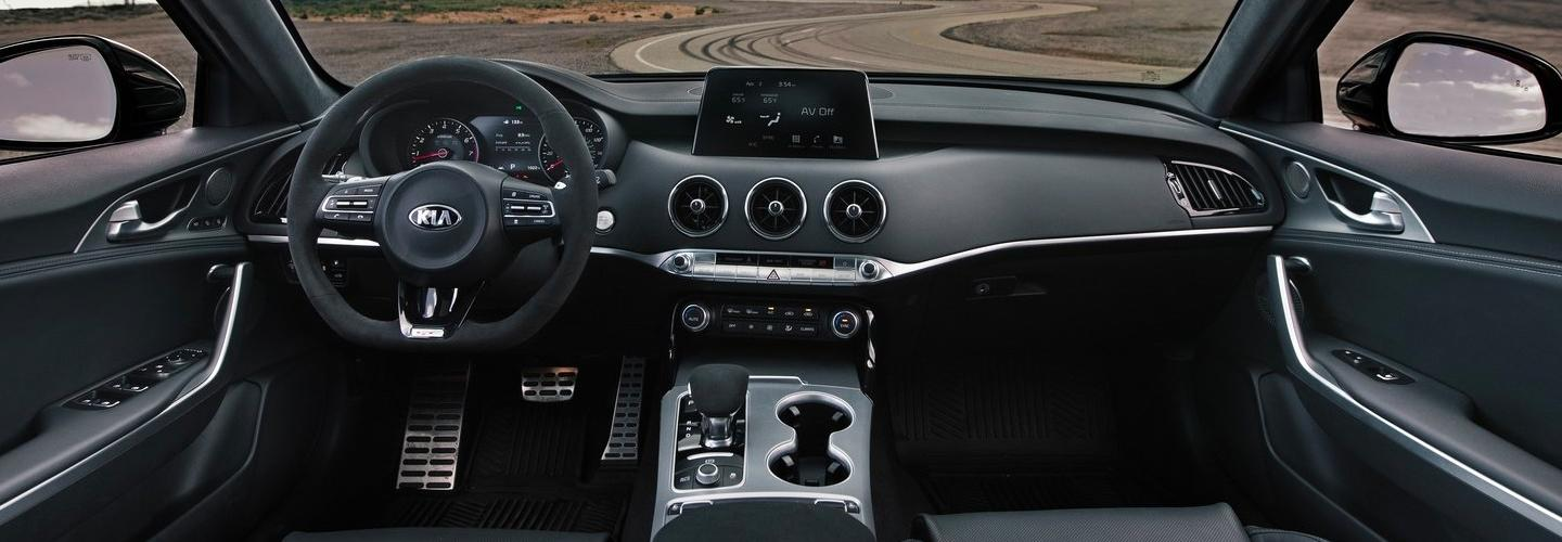 Interior view of the 2020 Kia Stinger
