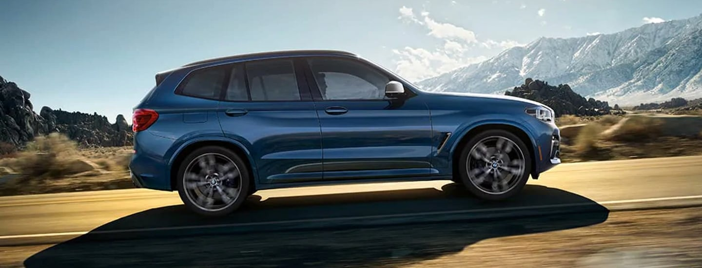 2020 BMW X3 in motion outside