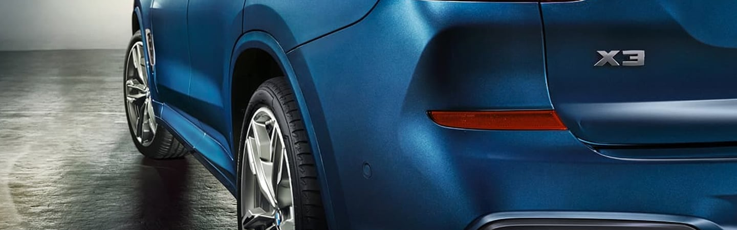 Close up rear view of the 2020 BMW X3