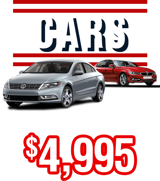 Cars From Only $4,995