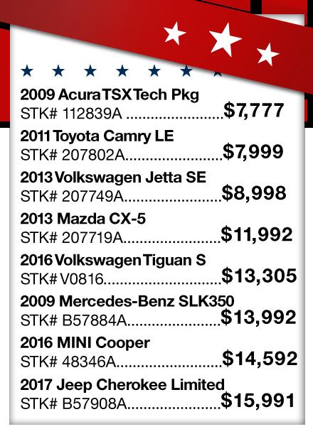 Vehicle Price Sheet 1