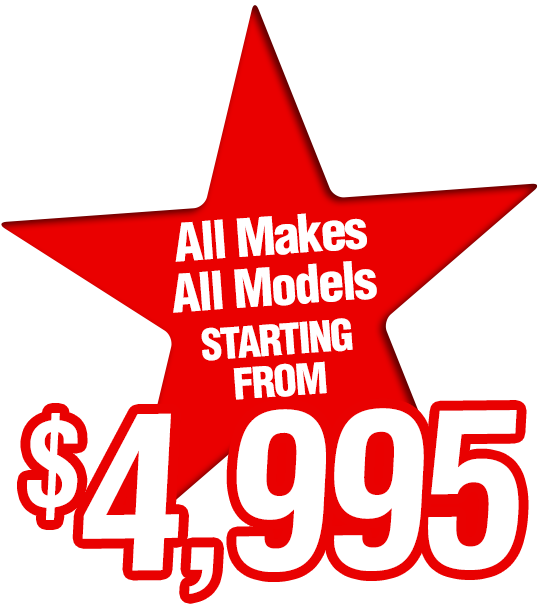 All Makes All Models Starting From $4,995