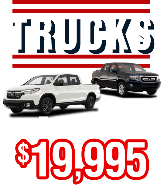 Trucks From Only $19,995