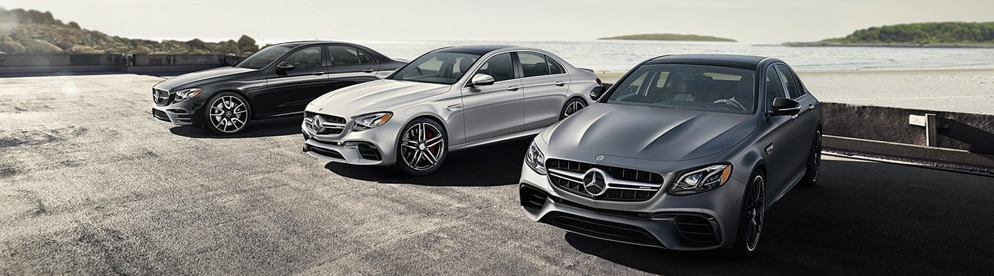 Three Mercedes-Benz E-Class parked side by side