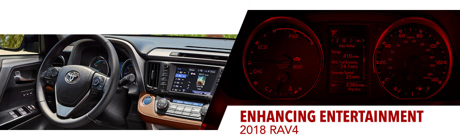 Safety features and interior of the 2018 Toyota RAV4 - available at Toyota of Rock Hill near Charlotte, NC and Rock Hill, SC