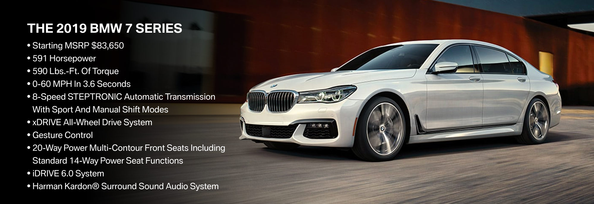 New 2019 BMW 7 Series Offer