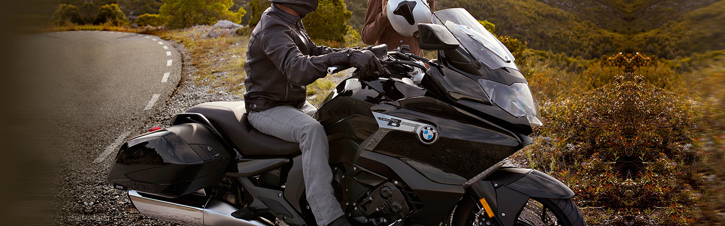 2019 BMW K 1600 B parked outside next to sand