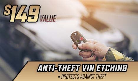 Antitheft vin etching