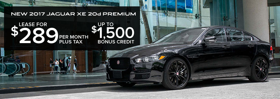 Lease The New 2017 Jaguar XE 20d Premium For $289 Per Month For 39 Months  With Total Drive Off Fee Of $1,988 And Financing Through Jaguar Financial.