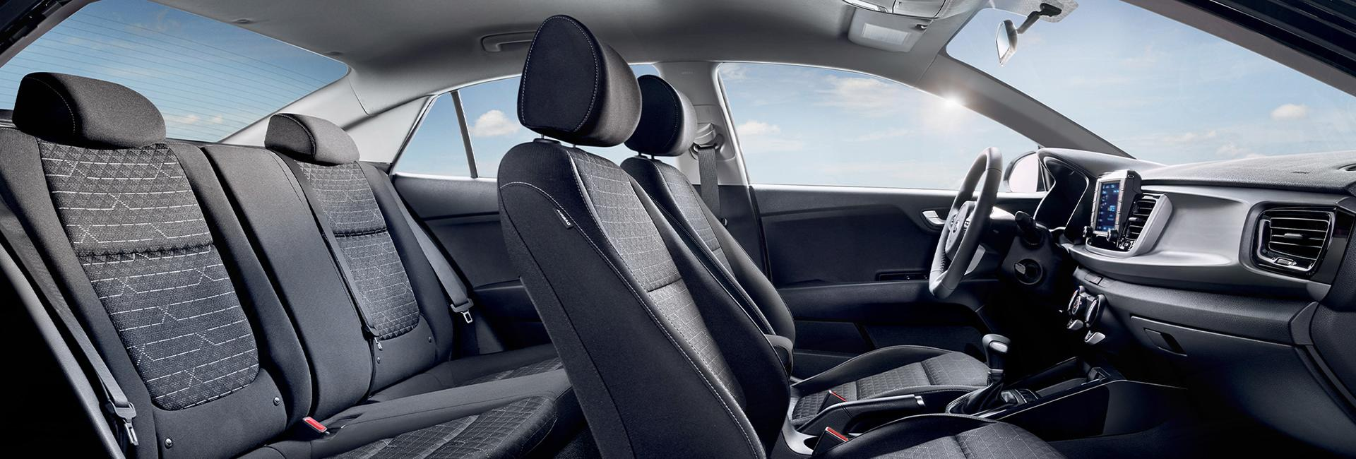 Picture of the interior of the 2020 Kia Rio.