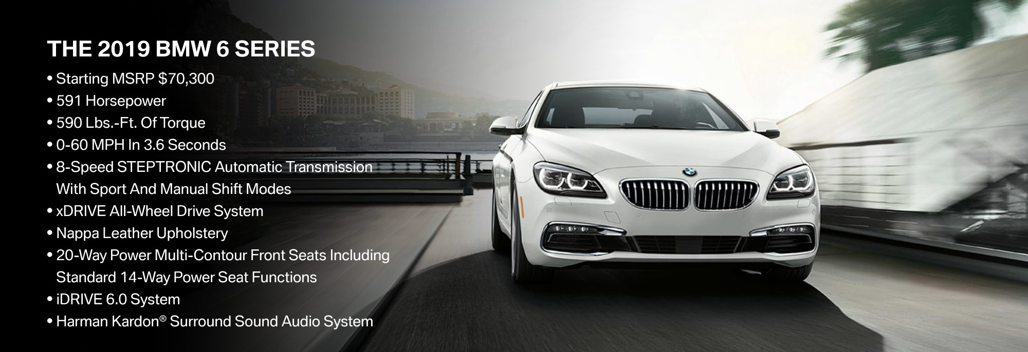 New 2019 BMW 6 Series Offer
