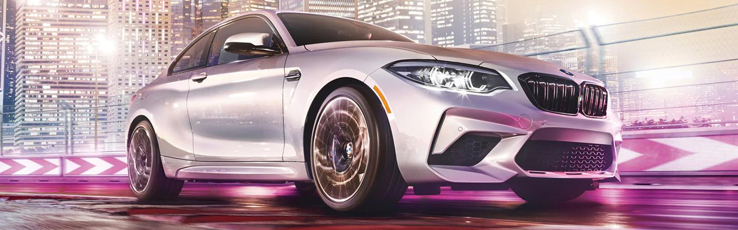 White 2020 BMW 2 Series in motion
