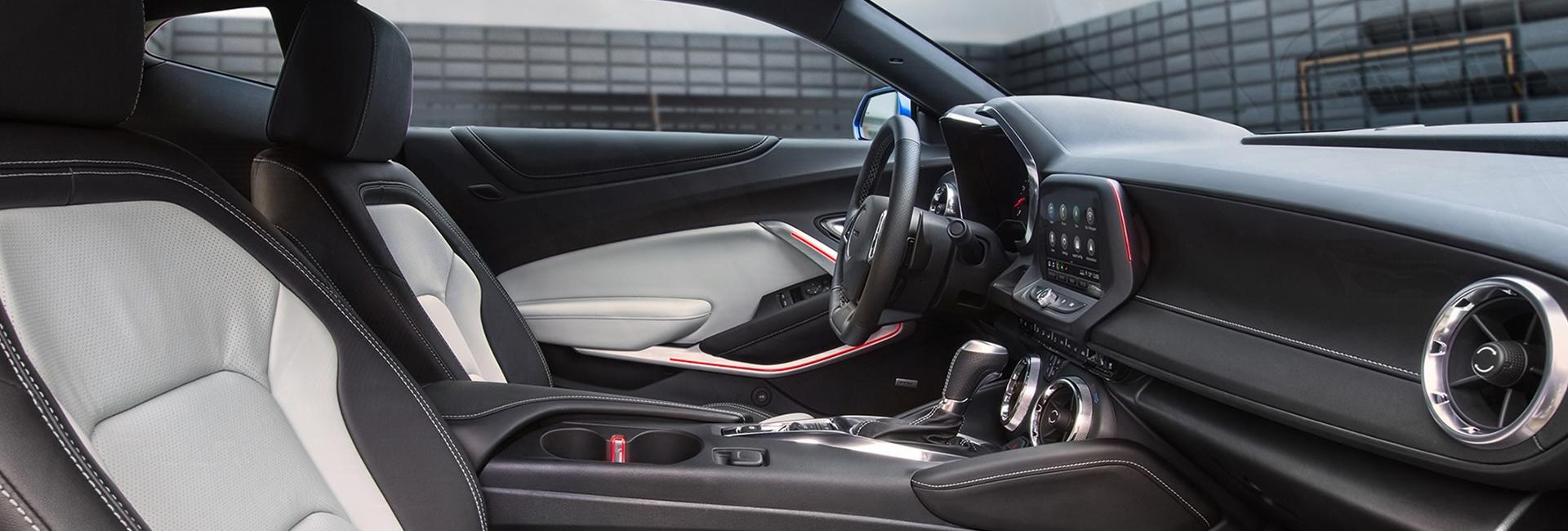 Picture of the interior of the 2020 Chevy Camaro for sale at Spitzer Chevy North Canton.