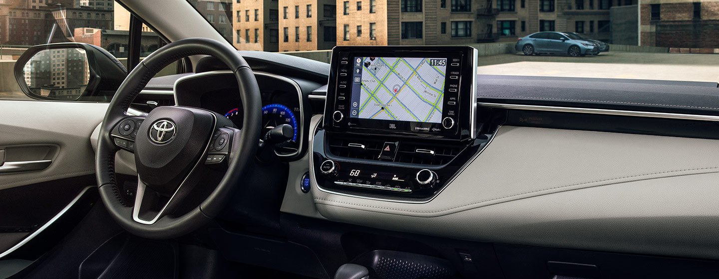 Interior of the 2020 Toyota Corolla available at our Toyota dealership inFort Lauderdale, FL.