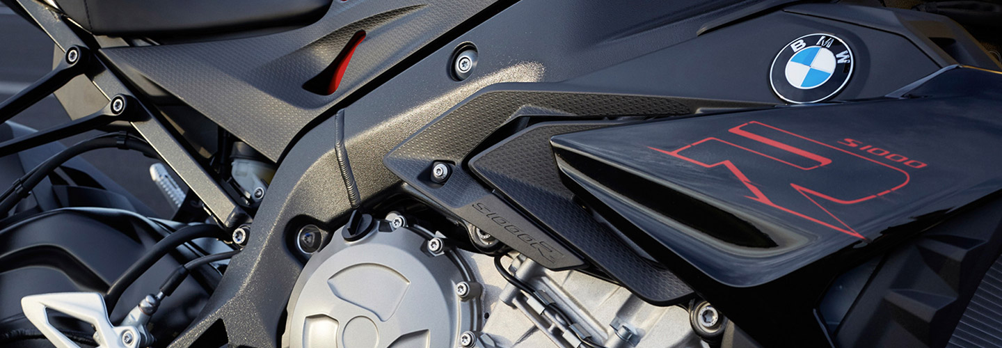 Close up of the 2019 BMW S 1000 R