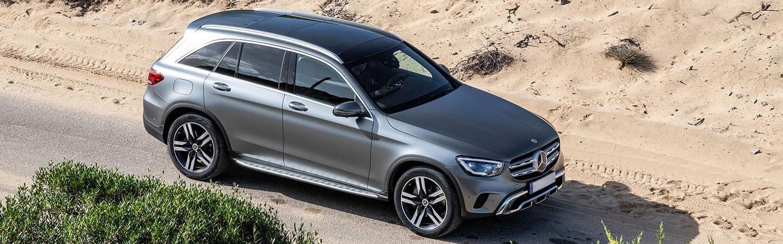 Mercedes-Benz GLC in a dirt trail