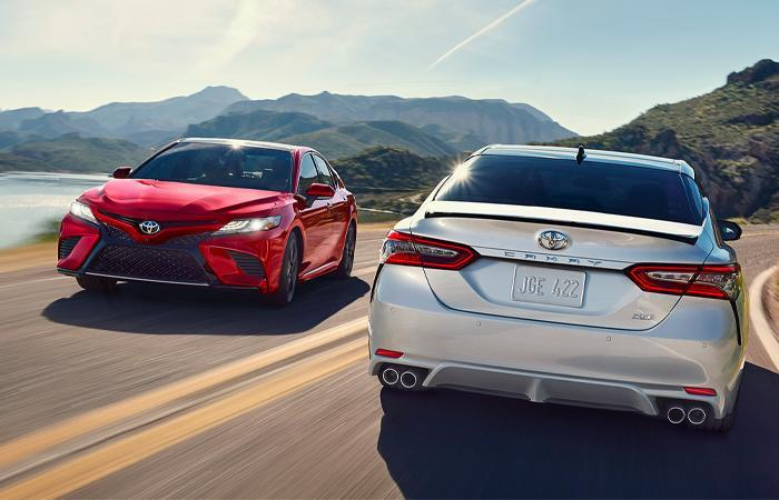 Exterior of the 2020 Toyota Camry