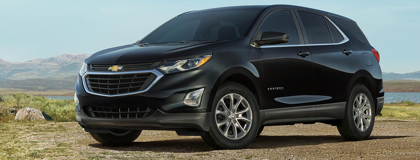 Black 2021 Chevy Equinox in motion