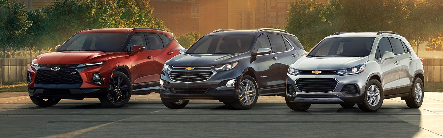 3 chevy equinox parked