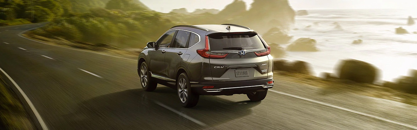 2021 Modern Steel Metallic Honda CR-V in motion