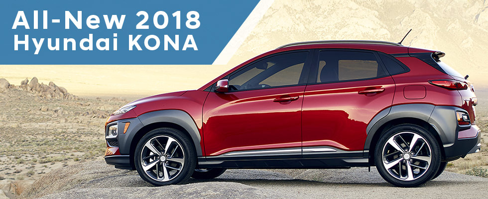 The 2018 Hyundai KONA is available at Family Hyundai in Tinley Park, IL