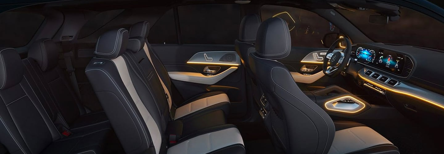 Full interior view of the Mercedes-Benz