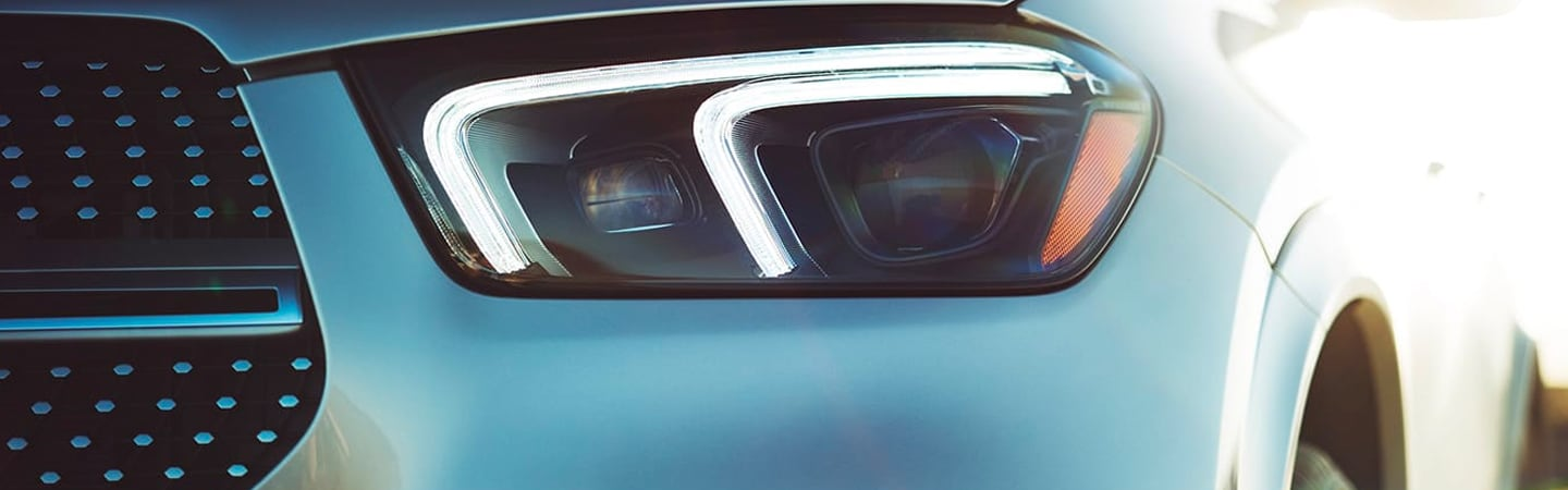 Front headlight view of the 2020 Mercedes-Benz