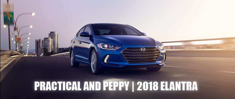 Exterior of the 2018 Hyundai Elantra at North Freeway Hyundai in Spring, TX