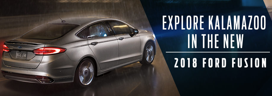 The 2018 Ford Fusion is available at Zeigler Plainwell Ford near Kalamazoo, MI