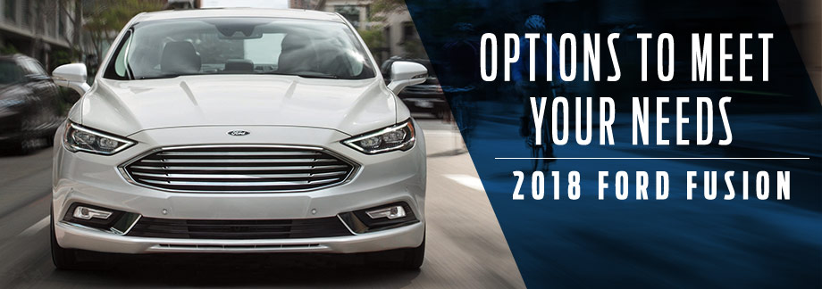 Exterior of the 2018 Ford Fusion at Zeigler Plainwell Ford near Portage, MI