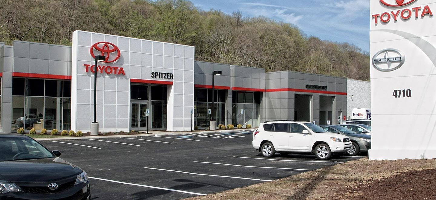 Picture of Spitzer Toyota dealership in Monroeville near Pittsburgh