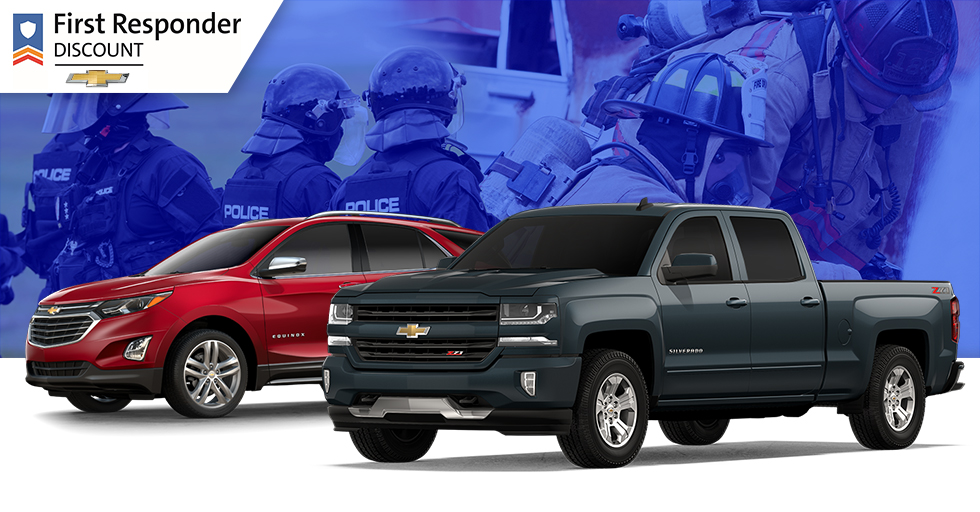 GM first responder discount available at DeFOUW Automotive in Lafayette, IN