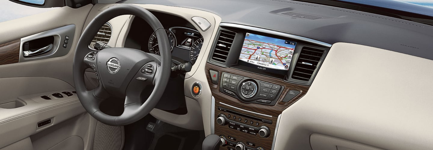 Picture of the interior of the 2020 Nissan Pathfinder