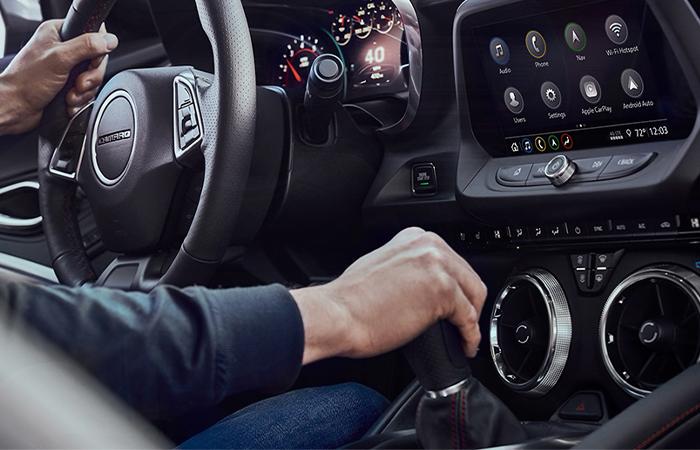 Interior of the 2020 Chevy Camaro