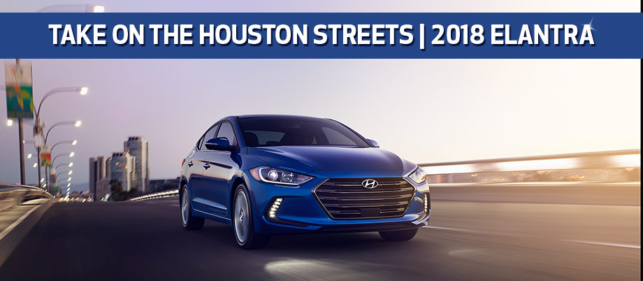 The 2018 Hyundai Elantra is available at Baytown Hyundai near Houston, TX