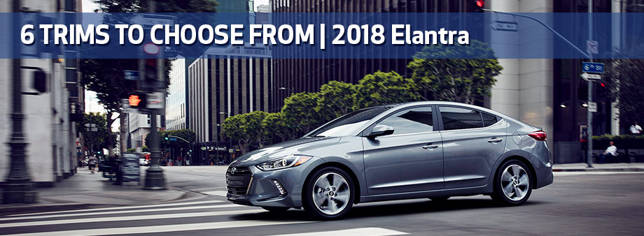 Exterior of the 2018 Hyundai Elantra at Baytown Hyundai in Baytown, TX