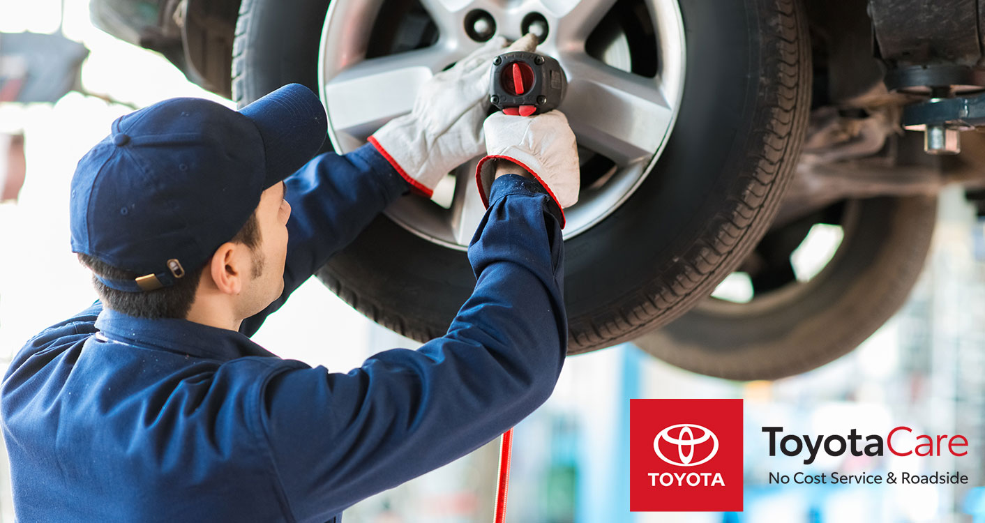 New Toyota vehicle with ToyotaCare extended warranty at Spitzer Toyota