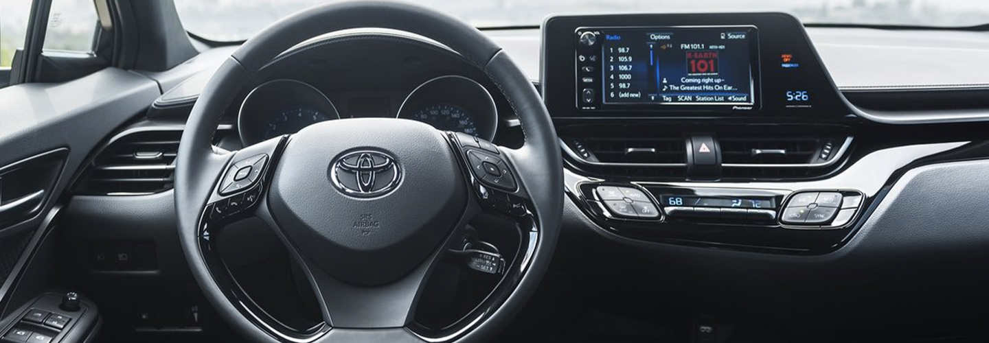 Interior and safety features of the 2019 Toyota C-HR available at Lipton Toyota