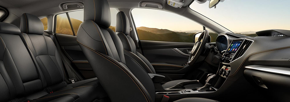 Safety features and interior of the 2019 Subaru Crosstrek available at Vista Subaru of Silverthorne near Frisco and Dillon CO
