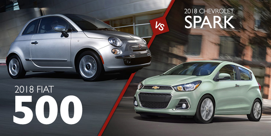2018 FIAT 500 vs 2018 Chevy Spark | Crown CDJRF Chattanooga